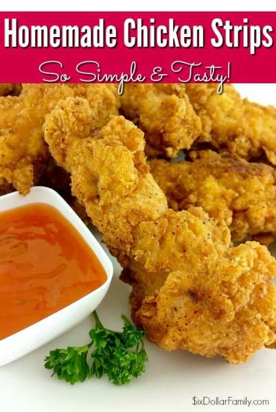 Homemade Chicken Strips - Need a quick and easy chicken recipe? These homemade chicken fingers are quick, easy and oh so delicious!