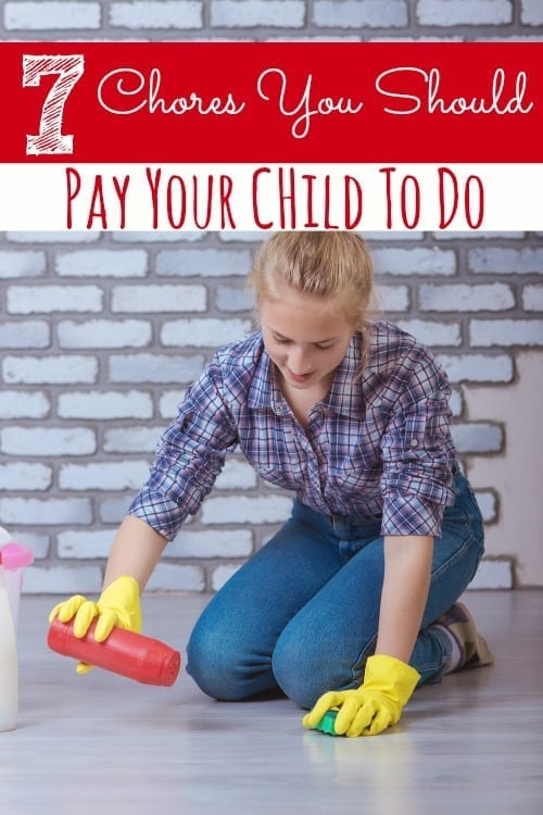 Do your kids do chores? Do they do them for free? I think there are certain chores that your kids should be paid for! Check out these 7 chores you should pay your child to do and let me know if you agree!