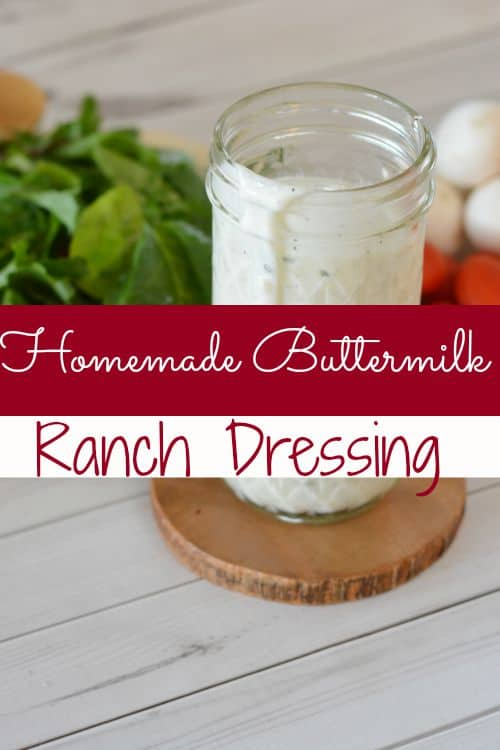 "Looking for a new homemade buttermilk ranch dressing recipe? This one is it! Creamy with just the right ""kick,"" you're sure to ditch the bottled stuff in your home!"