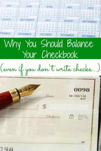 Do you still write checks? No? You're not alone. You still need to balance your checkbook...and I'm going to tell you why.