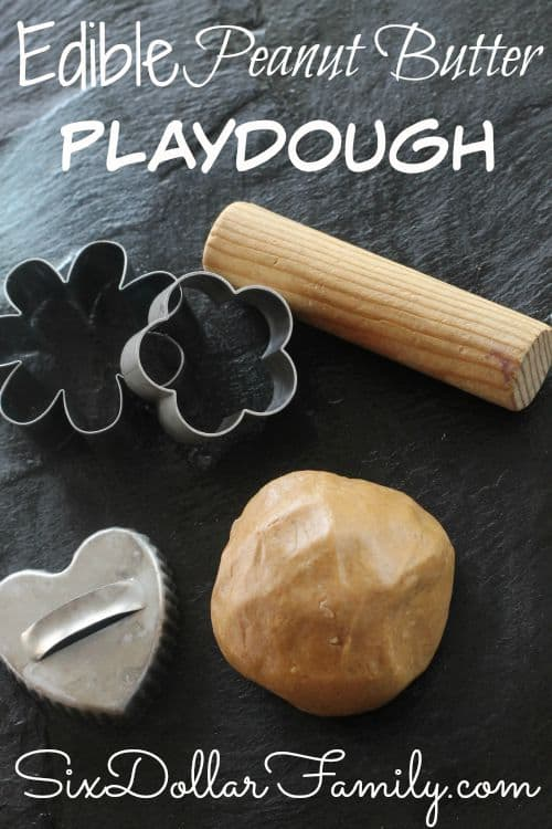 "Have kids that love play-doh but worried about them getting hurt or sick from it? This Edible Peanut Butter Playdough is perfect for you! No ingredients you can't pronounce and just as awesome as the ""real"" thing!"