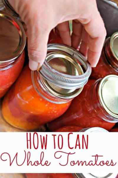 Canning tomatoes is a fantastic way to eat fresh from the garden all year long while you lower your grocery budget too! Learn how to can tomatoes in just a few simple steps!