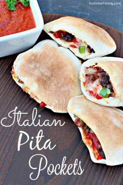 Perfect as a meal or just a mid-week lunch, these Homemade Italian Pita Pockets are super easy to make, filling and have a taste that will have you begging for more!