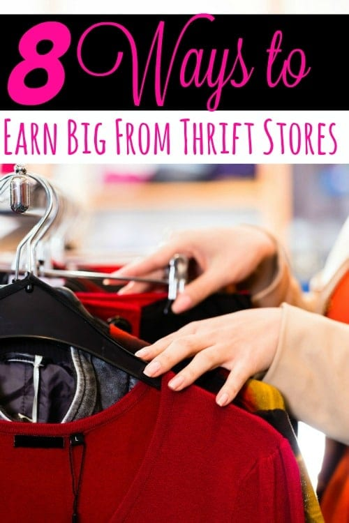 The next time you're in the thrift stores, keep your eyes open! You could missing a great way to make extra cash from home! These 8 ways to earn big from thrift stores will show you how to do just that!