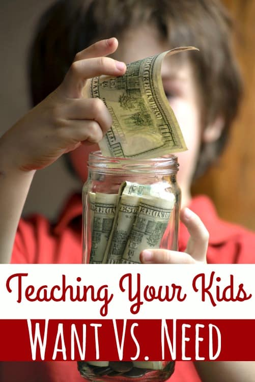 As adults, your kids will need to know the difference between a want and a need. Teaching your kids want vs. need early in life helps set them up a successful financial future even if adulthood is years away!