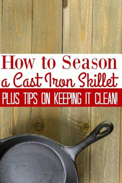 How to Clean and Season a Cast Iron Skillet - Love your cast iron cookware? Make sure you're taking care of it correctly with these tips for cleaning cast iron! You'll also need to know how to season a cast iron skillet to help your cast iron cookware last for years to come!