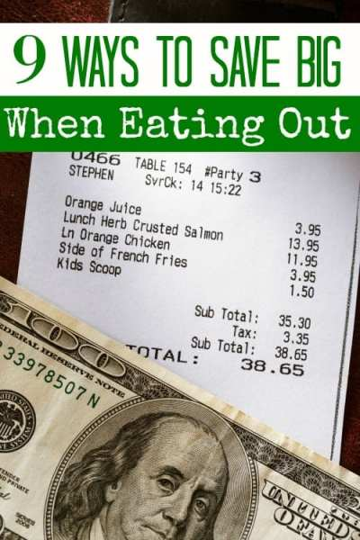 Eating out soon? Don't break your budget! These 9 ways to save on eating out will have you saving big bucks on your next restaurant check!