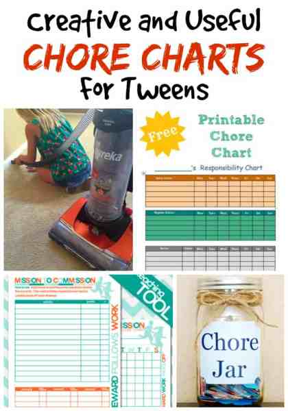 Printable Chore Charts for Tweens - If your tween is like mine, they will still need guidance and help with their chores. These 27 creative chore charts for tweens are PERFECT! Easy to use, more grown up than most chore charts and printable so you can reuse them over and over again!