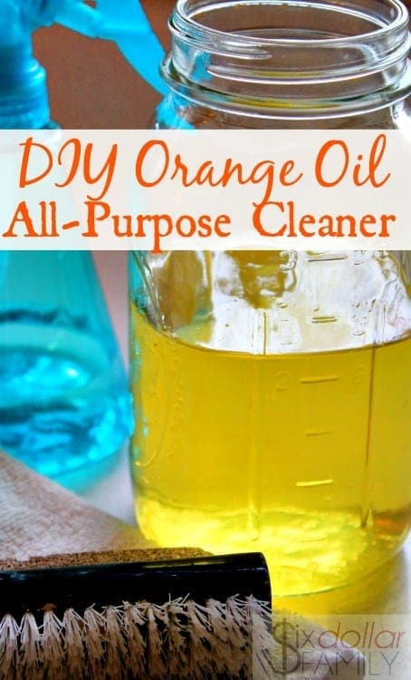 DIY Orange All-Purpose Cleaner! - If you love making homemade cleaners, you'll LOVE this DIY Orange All-Purpose Cleaner! My favorite of all natural cleaners, it's so simple to make and super cheap too! Plus it smells amazing and works like a charm!