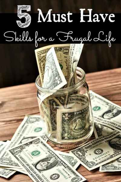 Do you have the skills you need to live a frugal lifestyle? These 5 must have skills for a frugal life are the strong money saving foundation you need to build your thrifty life! They'll help you save SO much money!