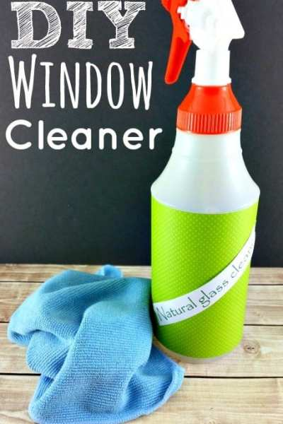 Skip the store bought stuff and still have clear, streak free windows! This DIY Window Cleaner is super easy to make (You won't believe how easy!) and cheap too! Plus? It works so much better than the commercial stuff with none of the chemicals!