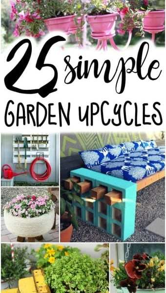 Ready to put add even more beauty to your garden? These 25 simple Garden Upcycles are amazing! Upcycling Ideas for the garden have never looked better!