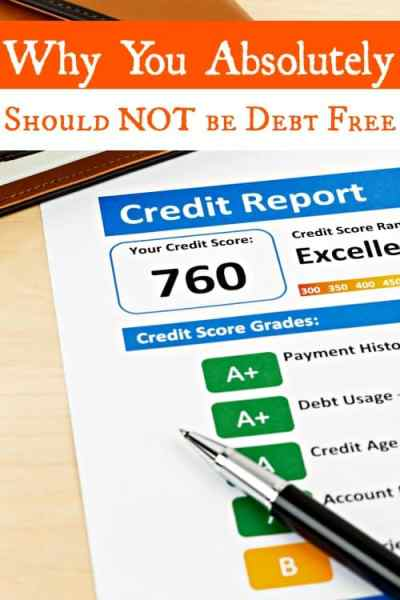 NOT be debt free? Scandalous, right? Nope! You absolutely do need to build your credit score and to do that, you need a healthy amount of debt. Don't be confused. Check out the post and I'll explain it to you!