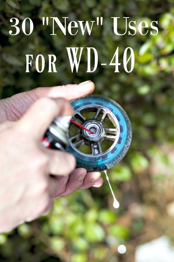 """The Squeaky Wheel gets the grease? Think WD-40 is ONLY for tight bolts and squeaky wheels? Think again! These 30 """"New"""" Ways to Use WD40 will have you amazed that you didn't know them before!"""