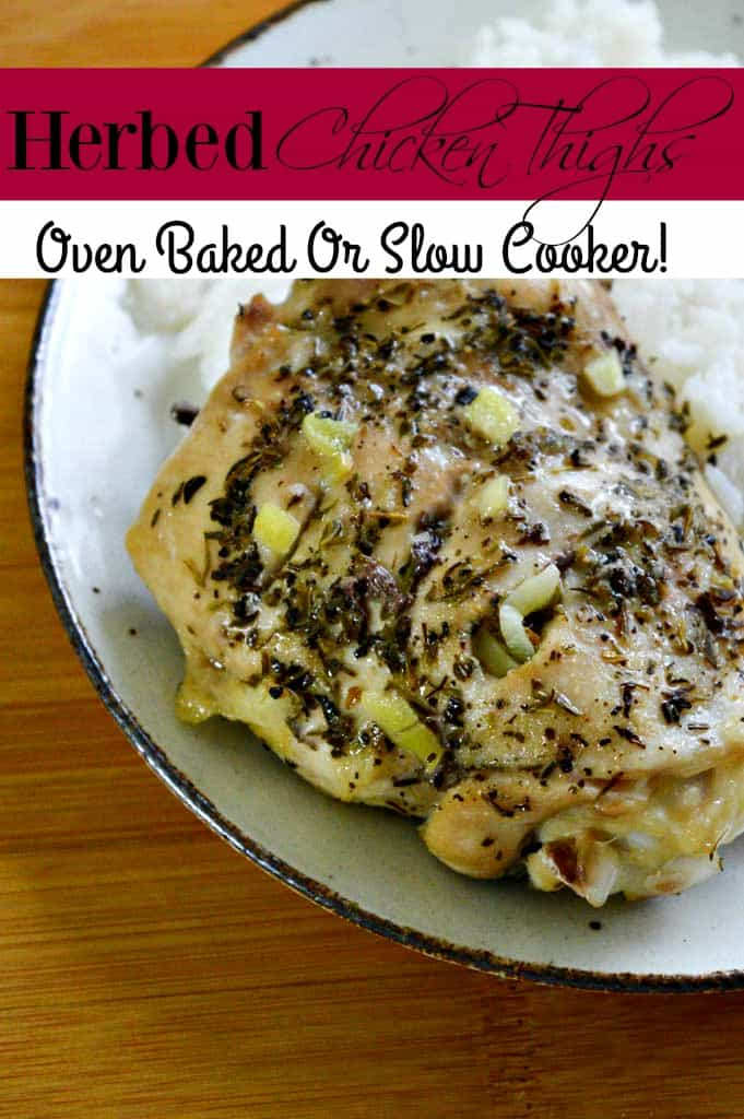 Quick! What's for dinner? If you need an easy chicken recipe, this is the one for you! This Garlic & Herbed Chicken Thigh recipe is so good and super easy to make!