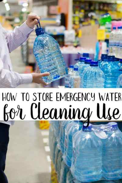 Ever wondered how to store emergency water for cleaning use only? Use this tip to keep your drinking water and cleaning water easily separated!