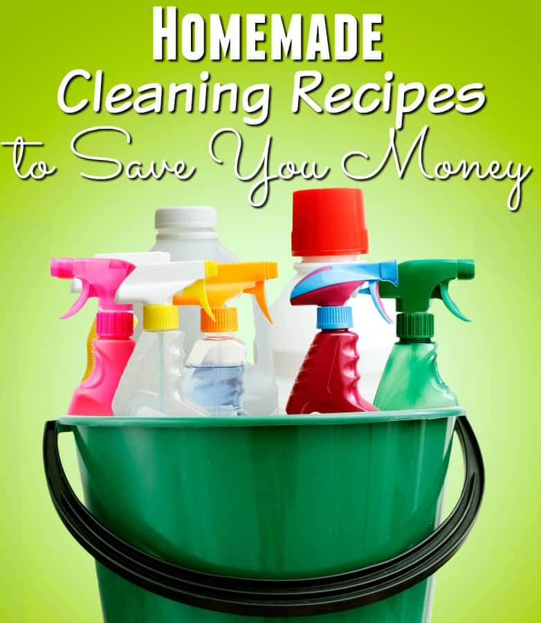 Looking for ways to save money on groceries? These homemade cleaner recipes can help! They're all-natural, easy and super budget friendly!