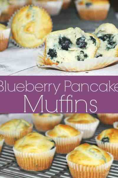 Blueberry Pancake Muffins Recipe - Breakfast is served and it is delicious! These muffins have the taste of amazing blueberry pancakes with the convenience of a freezer friendly muffin recipe!