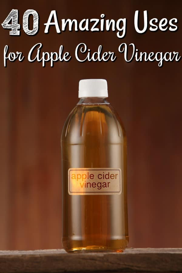 Ways to Use Apple Cider Vinegar - Think that bottle of apple cider vinegar is only for cooking? Think again! These 40 AMAZING uses for Apple Cider Vinegar will have you using it over and over again! It works as everything from a natural cleaner to a tried and true home remedy!