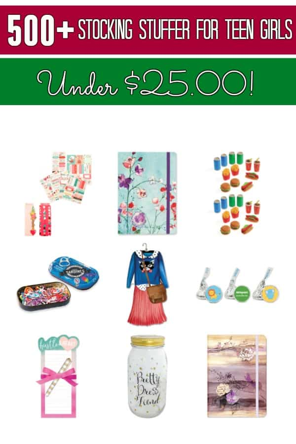 Looking for great stocking stuffer ideas for your teenage daughter? This holiday gift guide has OVER 500 stocking stuffer ideas for teenage girls! You'll find funny, classic, geeky and MORE! She's sure to love each one of them!