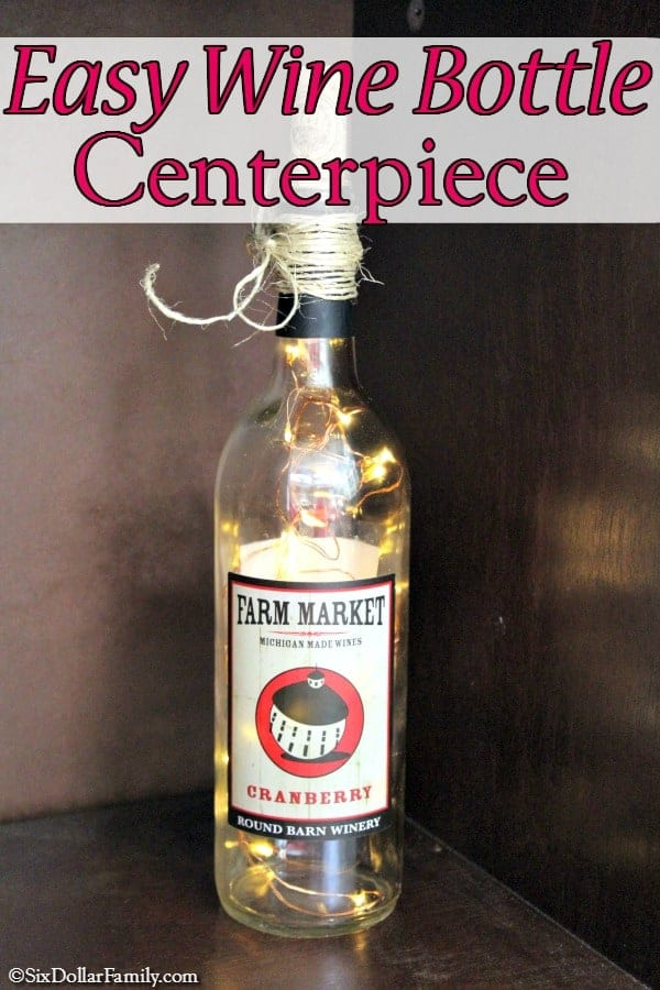 Do you love upcycled craft ideas? If so, you'll love this! This wine bottle centerpiece is the perfect wine bottle craft for any time of the year!
