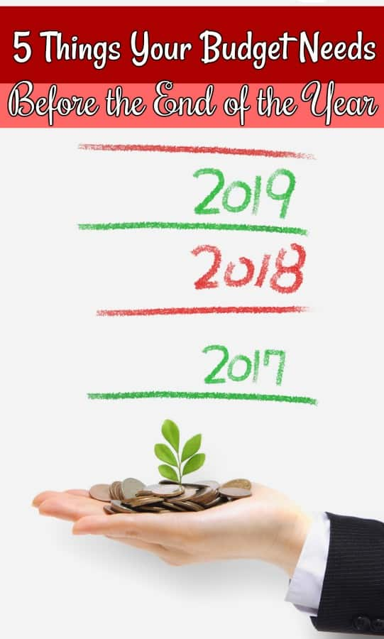 Things your personal budget needs before the end of the year - Don't start the new year without a financial checkup! These 5 things your budget needs before the end of the year are the perfect way to kickstart your finances in 2018!