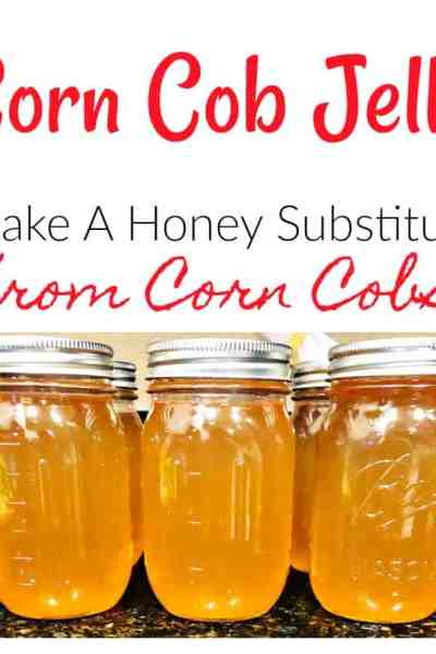 If you love honey, you'll adore this super simple corn cob jelly recipe! It's the perfect no-waste canning recipe! Use it for ice cream, toast, pancakes or anywhere else you would use honey! It's delicious!