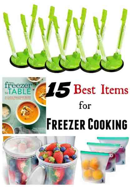 Best Kitchen Items for Freezer Cooking - Are you new to freezer cooking or once a month cooking and confused? Don't let that stop you! Freezer cooking is a great way to save money! Making sure you have the best kitchen items for freezer cooking in your corner will go a long way toward helping you master the process!