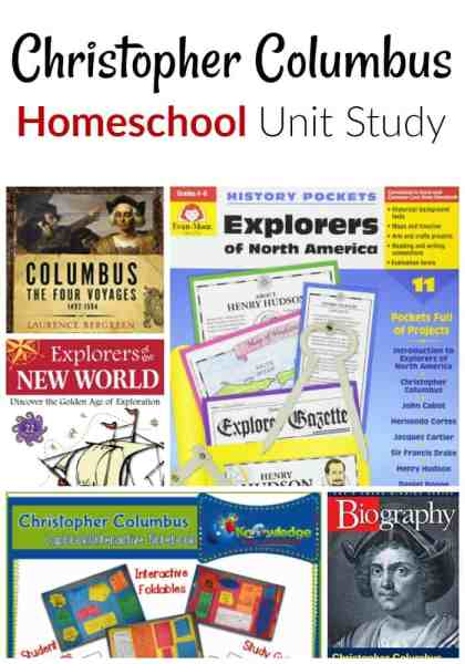 Christopher Columbus Day Unit Study - Studying Christopher Columbus in your homeschool? This Christopher Columbus unit study is just what you need! It's both educational and fun!