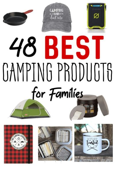 Best Camping Gear for Families - Going camping this summer? Make sure you have these 48 best camping products for families! Having all the necessary things for camping is super important! This list of the best camping gear will make sure you have what you need!