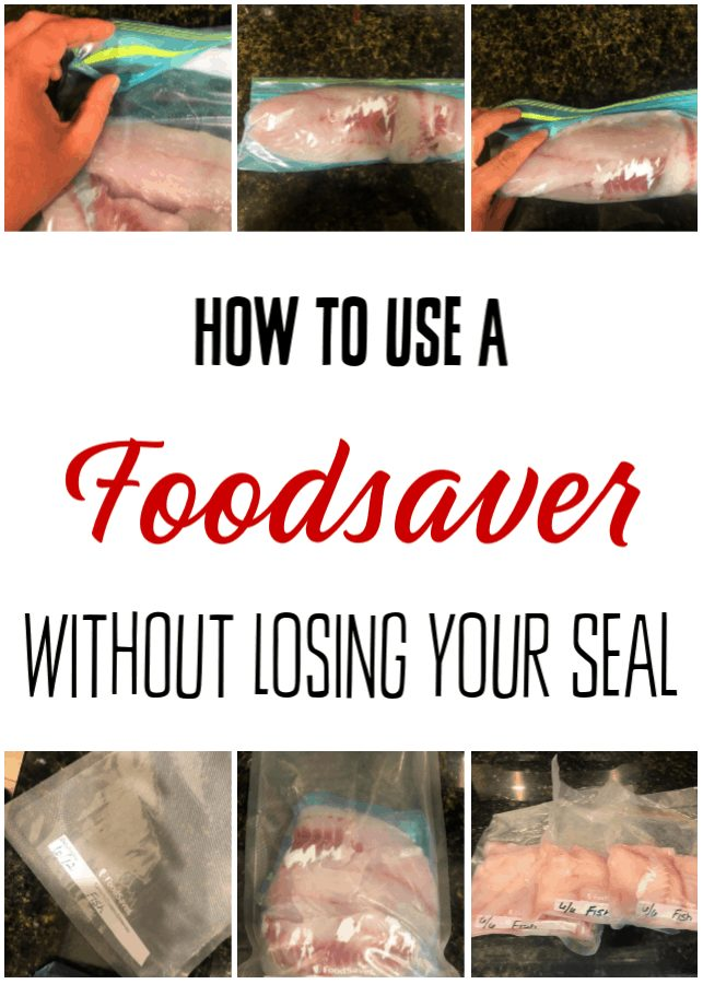 How to Vacuum Seal Food - Tired of vacuum sealing your food only to find it has lost its seal? Let me show you how to vacuum seal food so your seal lasts! Once you learn how to use a Foodsaver the RIGHT way, you'll be saving money on food every chance you get!