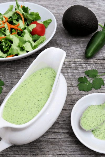 How to Make Avocado Ranch Salad Dressing - If you love avocado recipes, you'll adore this avocado ranch salad dressing recipe! Creamy and full of goodness, add it to your salad today!