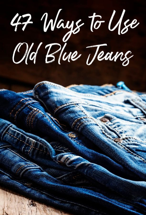 Have a closet full of jeans you'll never wear? You could sell them OR you could make something amazing! These 47 ways to use old blue jeans are perfect ways to repurpose old denim with your crafty side!