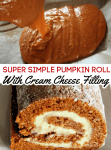 If you love a good pumpkin recipe, you're going to adore this super simple pumpkin roll with cream cheese filling! With a soft cake layer and a sweet cream cheese filling, it's the perfect fall dessert! Be sure to add this one to your Thanksgiving dinner plans!