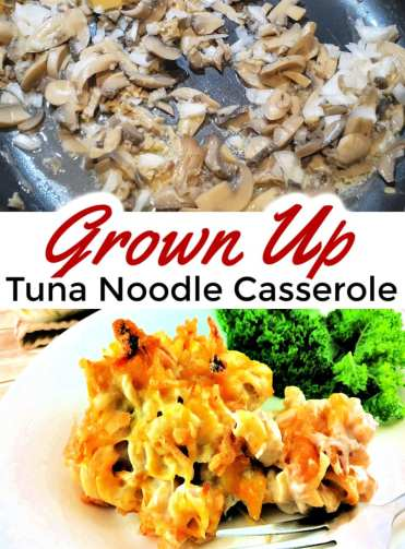 Ready for an amazing casserole recipe? The classic tuna casserole recipe is all grown up with sautéed mushrooms, Colby jack cheese, fried onions and more. You'll never turn your nose up at tuna noodle casserole again! Freezer friendly recipe too!