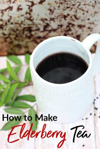 Boost your immune system with a Vitamin C packed cup of elderberry tea! This elderberry tea recipe is healthy, simple and delicious!