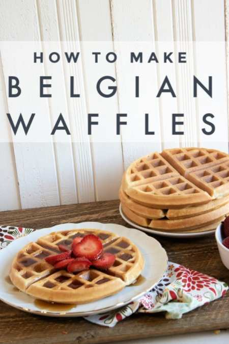 If you need a great breakfast recipe, this recipe for Belgian waffles is perfect! Learn how to make Belgian waffles in just 4 easy steps and put this one in your tried and true file!