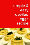 The classic deviled egg is a staple at picnics and gatherings everywhere for a reason! They're super simple and so tasty! This classic deviled egg recipe is no different! Make it for your 4th of July picnics, holiday tables or anytime you need a quick appetizer recipe!