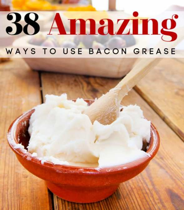 Do you save bacon grease? If not, you should be! These 38 ways to use bacon grease are amazing! They're sure to surprise you, tempt your taste buds and so much more! (Not just for cooking!)