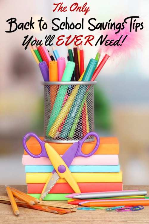 Kids are expensive and there's no greater example of this than when you shop for school supplies! These back to school savings tips are perfect for any parent looking to save money on school supplies!