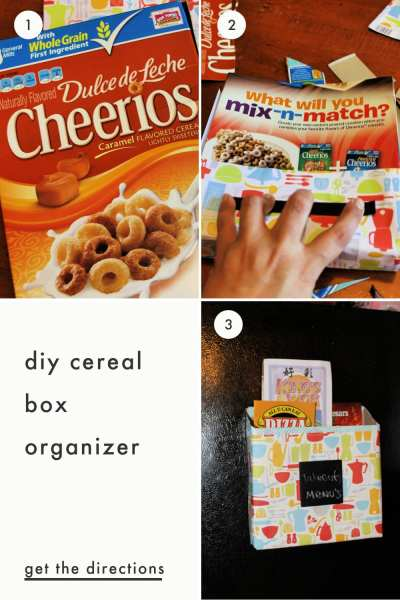 Who says having an organized home must be expensive? This DIY cereal box organizer not only keeps papers organized but also helps you save money and reduce waste at the same time!