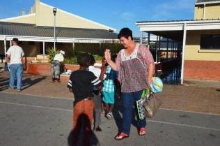 Lorna with her school kids 2