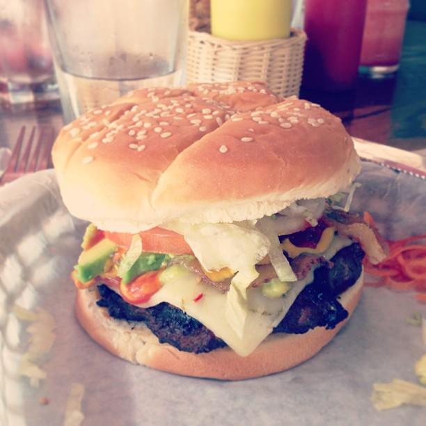 Bacon avocado burger