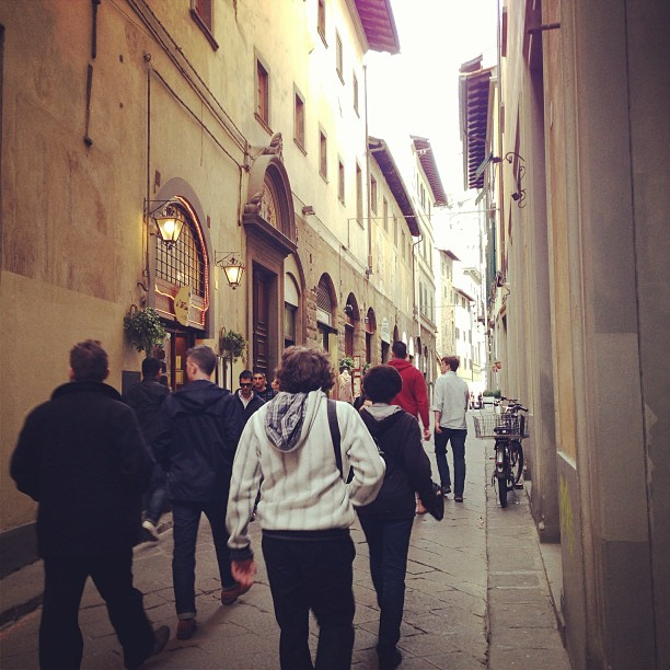 Walking to the Duomo