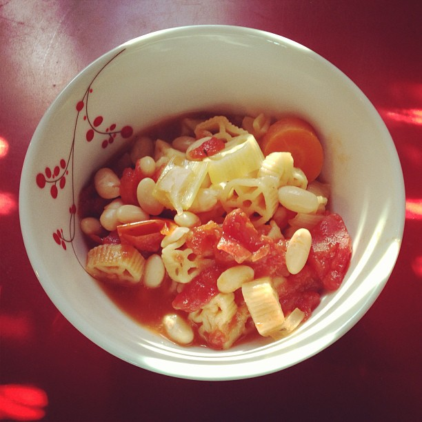 Homemade pasta e fagioli, courtesy of Tim