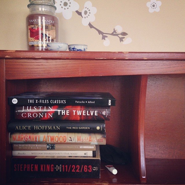 Just realized the stack of unread books by my bed sums up my tastes in reading perfectly.