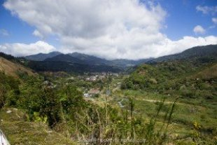 Hill top view of Boquete