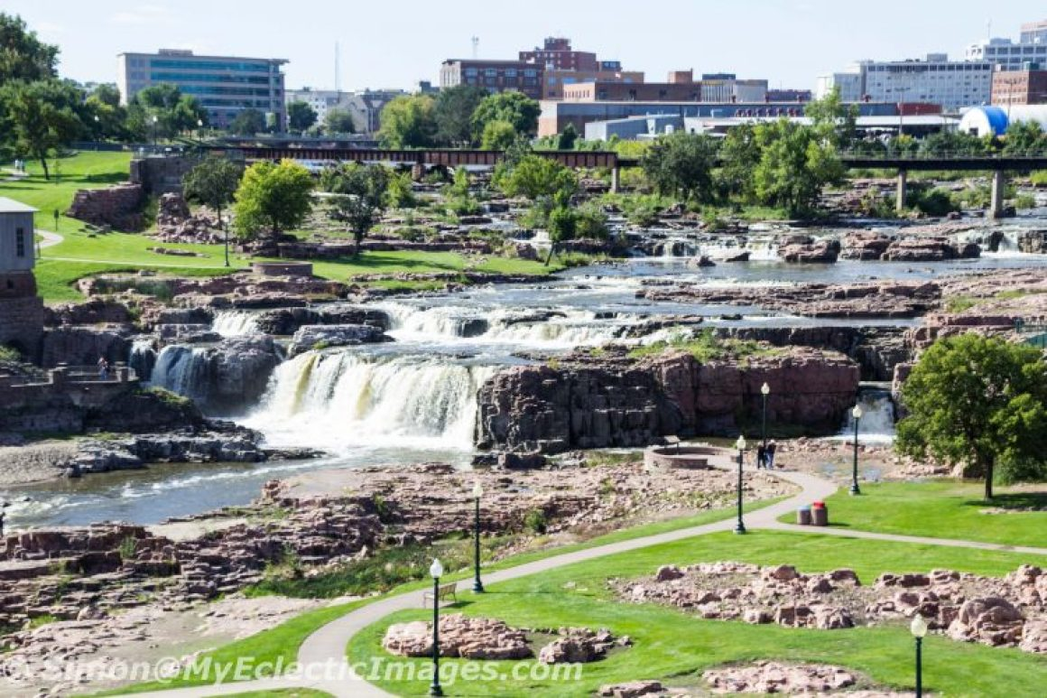 View of the Falls and Falls Park from the Observation Tower