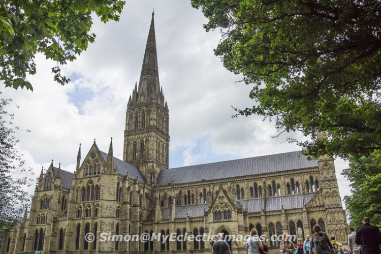 Salisbury Cathedral seen from the Cathedral Close