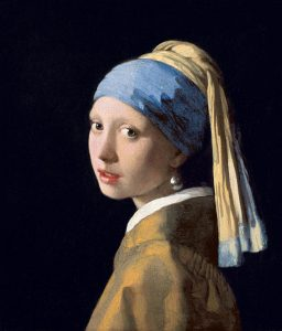 Painting of Girl with a Pearl Earring (photographer unknown)